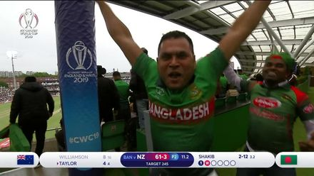 CWC19: BAN v NZ - Jubilant Bangladesh fans before Williamson is recalled