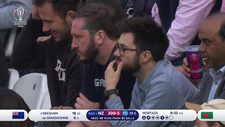 CWC19: BAN v NZ - Tense times for most in the crowd