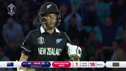 CWC19: BAN v NZ - Second innings highlights