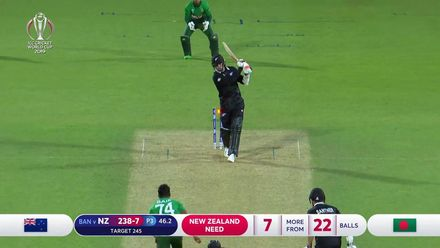 CWC19: BAN v NZ - Henry dismissed leaving two more wickets for Bangladesh to take