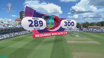 CWC19: AUS v WI - Highlights of West Indies' innings