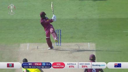 CWC19: AUS v WI: Highlights of Shai Hope's 68