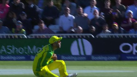 CWC19: AUS v WI - Glenn Maxwell's well-judged catch to dismiss Andre Russell