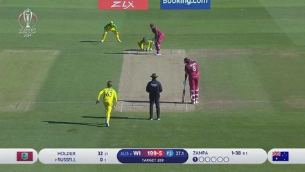 CWC19: AUS v WI - Andre Russell's 103 metre six!