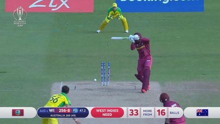 CWC19: AUS v WI - Starc bowls Cottrell for his fifth wicket