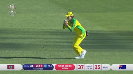CWC19: AUS v WI - Holder is caught by Zampa off Starc