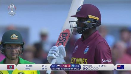 CWC19: AUS v WI - Highlights of Jason Holder's 51