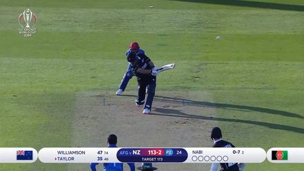 CWC19: AFG v NZ: New Zealand innings highlights