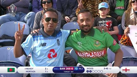 CWC19: ENG v BAN - Rival supporters