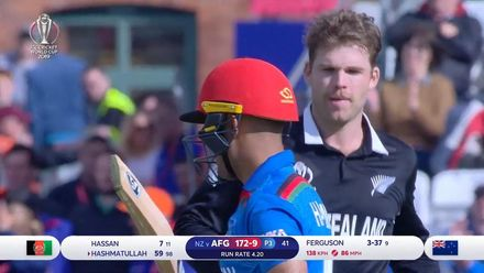 CWC19: AFG v NZ - Hashmatullah falls for 59