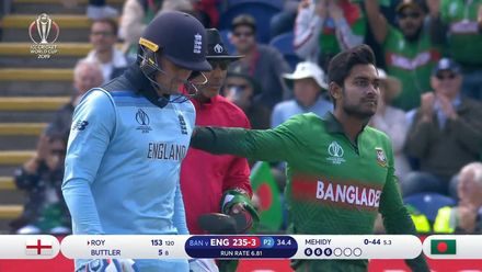 CWC19: ENG v BAN - How the England wickets fell