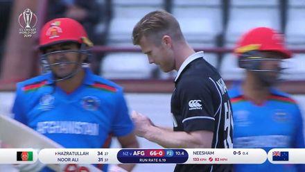 CWC19: AFG v NZ - Neesham snares Hazratullah for NZ breakthrough