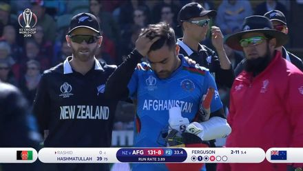 CWC19: AFG v NZ - Ferguson bouncer accounts for Rashid