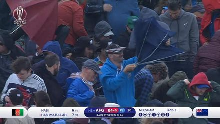 CWC19: AFG v NZ - Rain batters Taunton