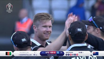 CWC19: AFG v NZ - Neesham's 5/31 rips through Afghanistan