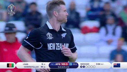 CWC19: AFG v NZ - All wickets as NZ skittle AFG for 172