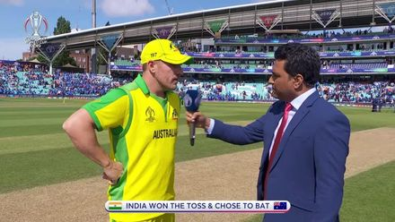 CWC19: IND v AUS - India win the toss and bat