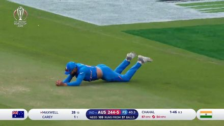 CWC19: IND v AUS - Maxwell falls to Chahal