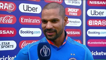 CWC19: IND v AUS - Player of the Match, Shikhar Dhawan