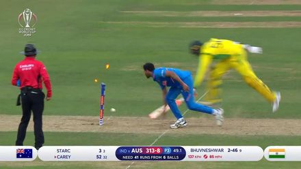 CWC19: IND v AUS - Starc run out going for a second