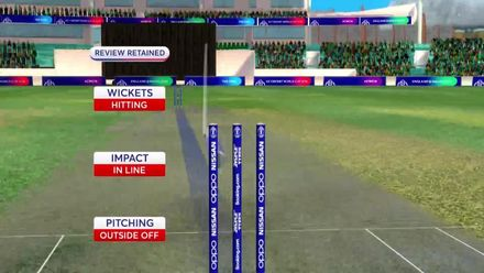 CWC19: IND v AUS - Smith is given LBW on review
