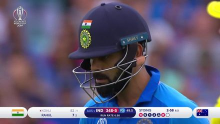 CWC19: IND v AUS - Kohli holes out off the penultimate ball of the innings
