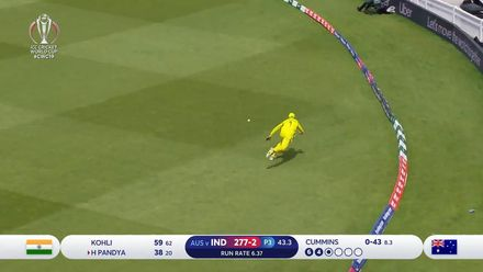 CWC19: IND v AUS - Super fielding by Usman Khawaja prevents a boundary