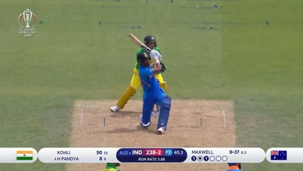 CWC19: IND v AUS - Pandya whacks Maxwell over cow corner for six