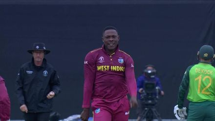 CWC19: SA v WI - Cottrell salutes the wicket of Markram
