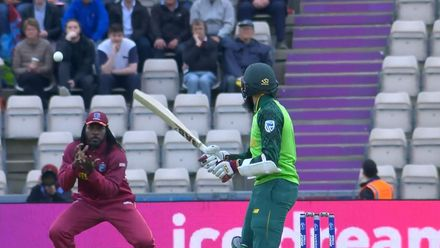CWC19: SA v WI - Cottrell strikes early to remove Amla