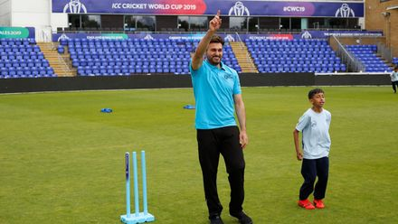 Afghanistan players take part in a Cricket4Good session in Cardiff