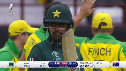 CWC19: AUS v PAK – Azam falls to Coulter-Nile after a fluent 30