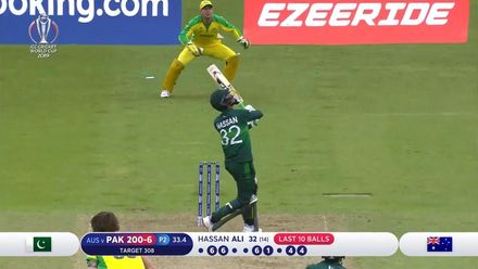 CWC 19: AUS v PAK – Hassan Ali departs for a thrilling 15-ball 32