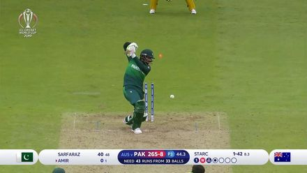 CWC19: AUS v PAK – Starc takes two in three as Amir falls for a duck
