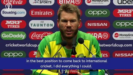 CWC19: David Warner - 'I'm pumped to be back'