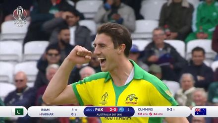 CWC19: AUS v PAK – Pat Cummins bowling highlights