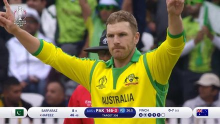 CWC19: AUS v PAK – Pakistan fall of wickets