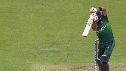 CWC19: AUS v PAK – Textbook drive from Babar Azam