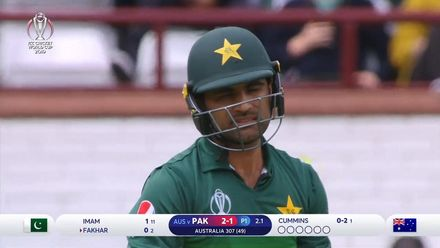 CWC19: AUS v PAK – Fakhar Zaman departs without troubling the scorers