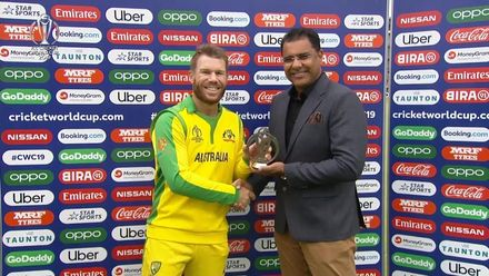 CWC19: AUS v PAK – David Warner, Player of the Match