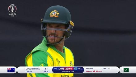 CWC19: AUS v PAK – Coulter-Nile is caught behind