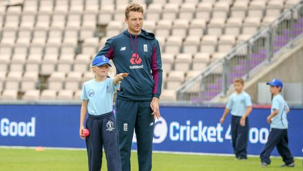England players participate in a Cricket4Good session in Southampton