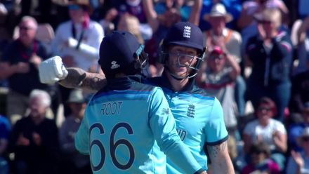 CWC19: ENG v WI - Winning moment