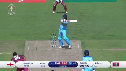 CWC19: ENG v WI - Bairstow is caught at third man