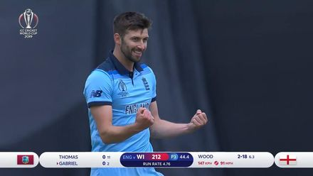 CWC19: ENG v WI - Wood bowling highlights