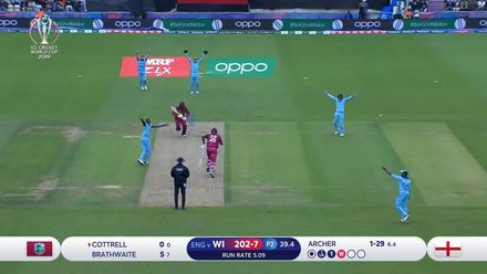 CWC19: ENG v WI - First innings wickets