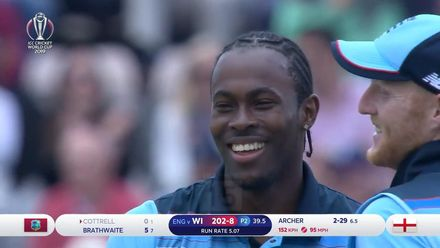 CWC19: ENG v WI - Archer bowling highlights