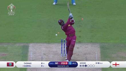 CWC19: ENG v WI - Wood cleans up Gabriel