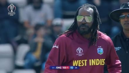 CWC19: ENG v WI - Gayle bowling montage