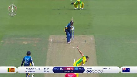 CWC19: SL v AUS - Starc bowls Perera for the breakthrough